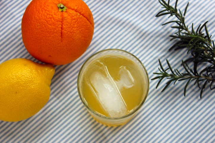 rosemary citrus spritzer | creative cocktails | Pinterest