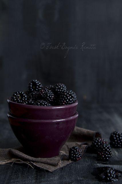 Blackberry on black by bognarreni, via Flickr