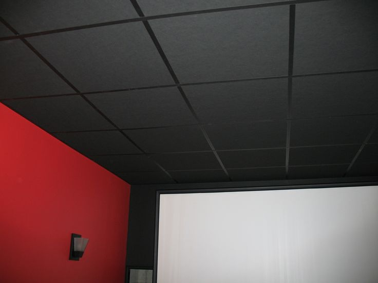 Paint acoustic ceiling tiles