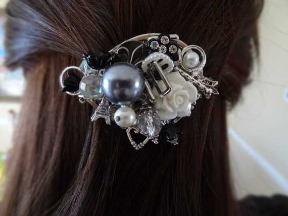 Vacation Romance Hair Barrette by wynbrit on Etsy, $36.00
