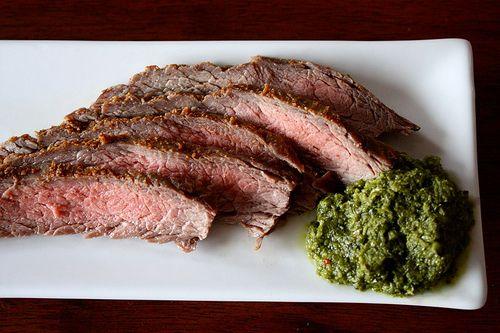 flank steak with chimichurri | Paleo & Grain-free Beef Recipes | Pint ...
