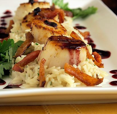 ... Blackberry Sauce, Guanciale & Shiitake Risotto Recipes — Dishmaps