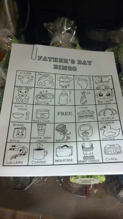 father's day bingo game