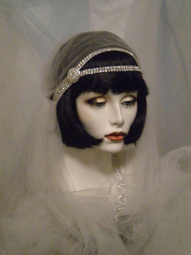 1920s HeadpieceFlapper HeadbandDownton Abbey Bridal - 1920'S Hairstyles