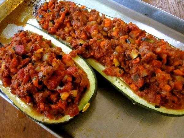 Turkey Stuffed Zucchini Boats | Recipes - Chicken | Pinterest