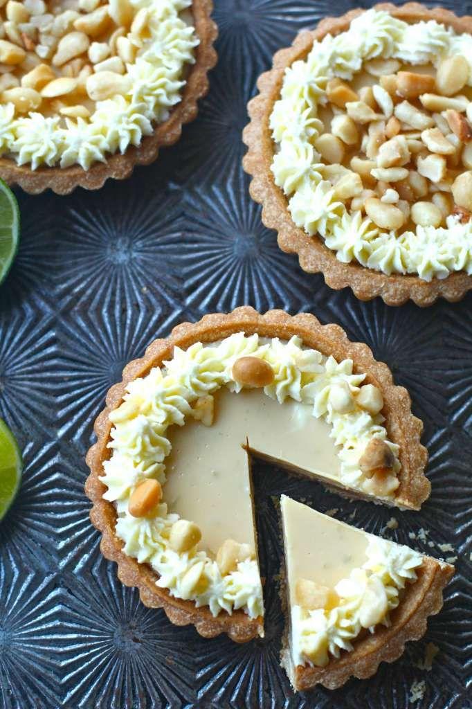 Key Lime Macadamia Nut Tarts - A macadamia shortbread crust adds so ...