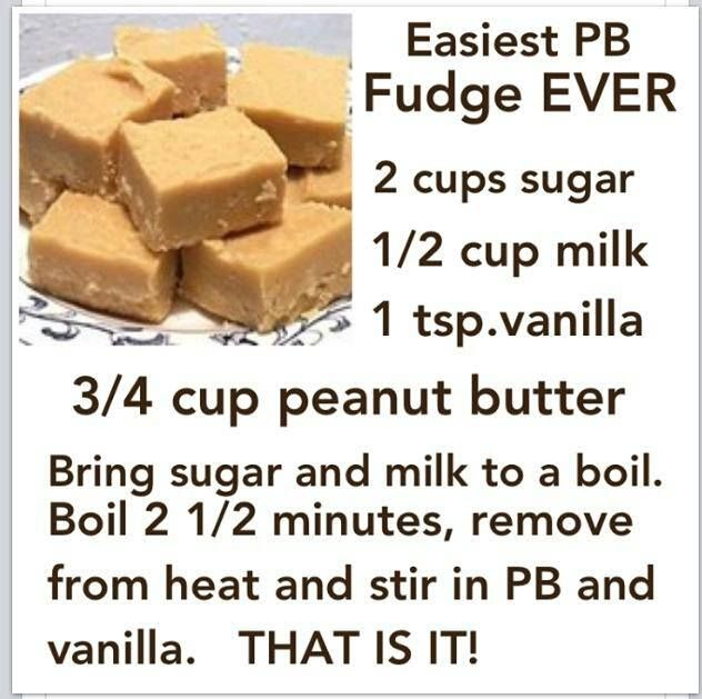 Supposedly easiest PB fudge ever, made it tonight and it is very easy and quite tasty