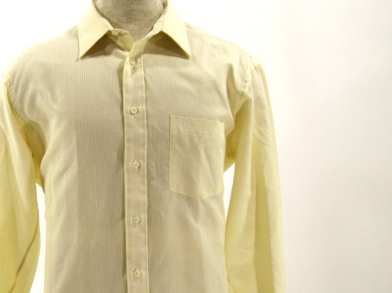 Vintage Yellow Christian Dior Dress Shirt by ...