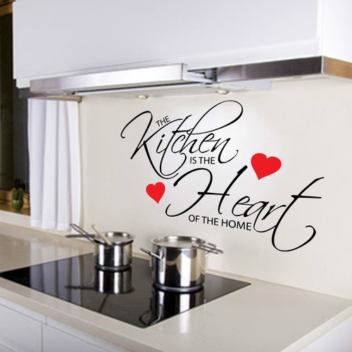 Kitchen is the heart of the home wall sticker decal for Kitchen design quotation