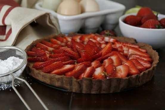 strawberry and ricotta tart | Foodie | Pinterest