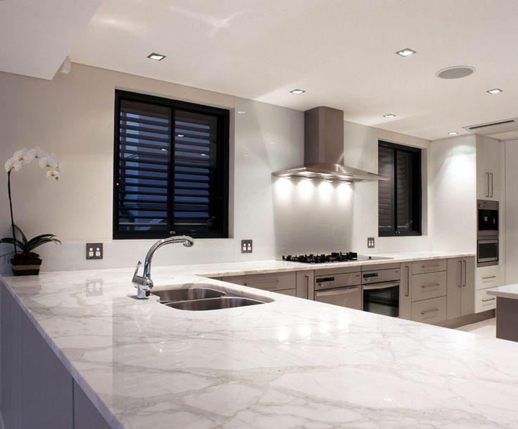 White Marble Kitchen Bench Top Kitchens Pinterest