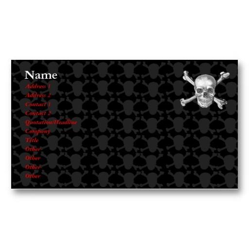 Pirate business card template