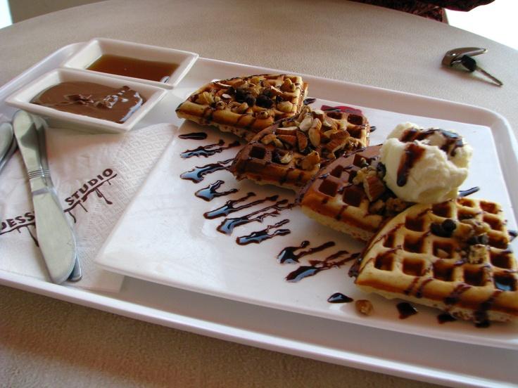 Waffles @ Dessert Studio,Chennai | Harmless Sin | Pinterest