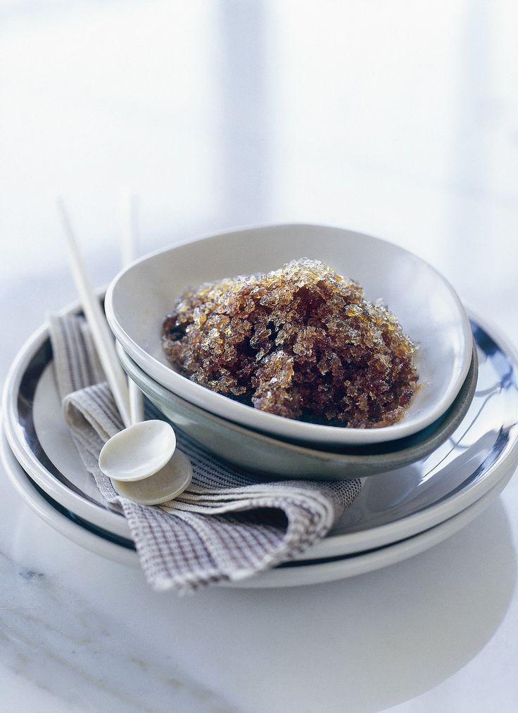 Espresso Granita... Fabulous. Use unrefined coconut sugar+a smidgen of ...