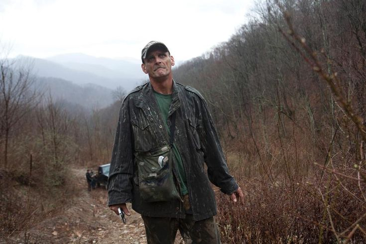 Ed Wiley looks up at mountaintop-removal operations near Peachtree ...