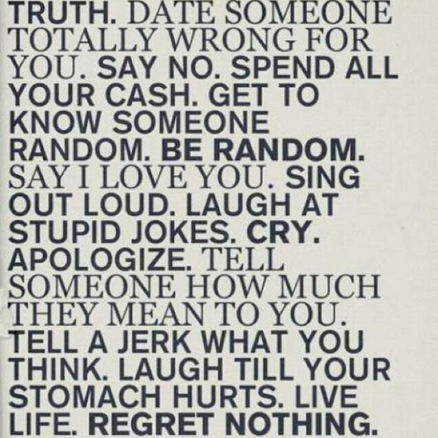 live life with no regrets quotes pinterest