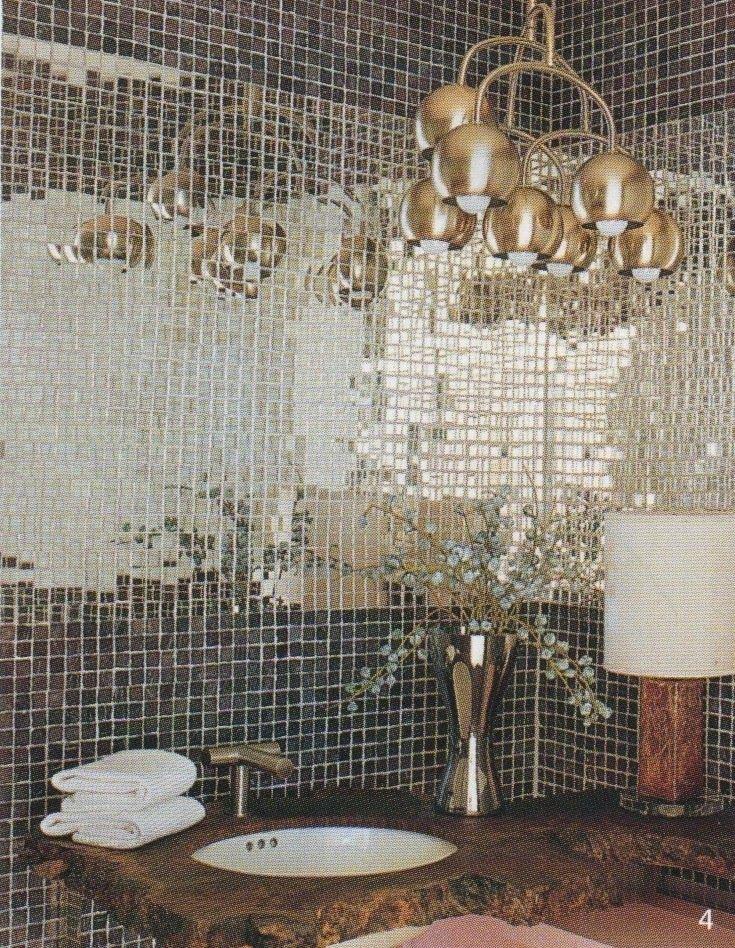 Ideas Originales Baño:Decorating with Mirror Tiles