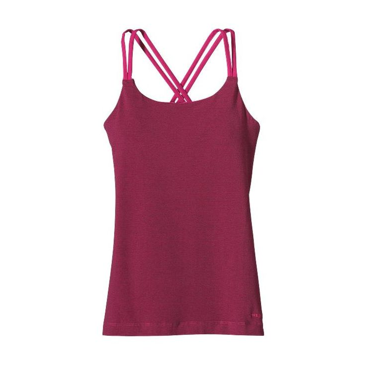 Patagonia Women's Cross Back Tank: A flattering, supportive #FairTrade Certified™ cross-back tank designed for yoga and made from an organic cotton/spandex blend.