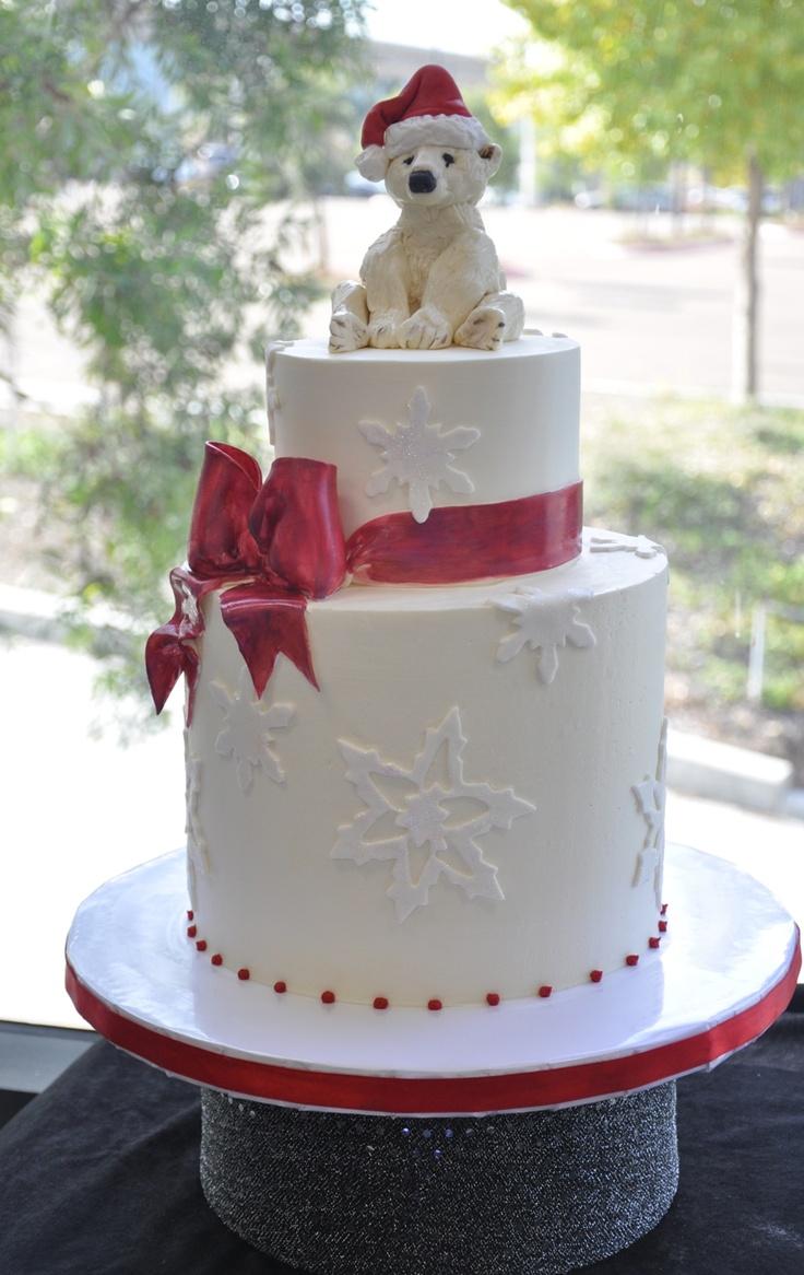 Beautiful Christmas Cake Images : Beautiful Christmas cake! Wedding cakes Pinterest