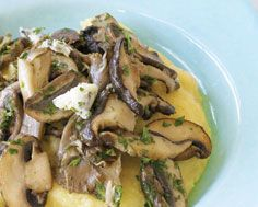 Polenta with Wild Mushrooms and Gorgonzola