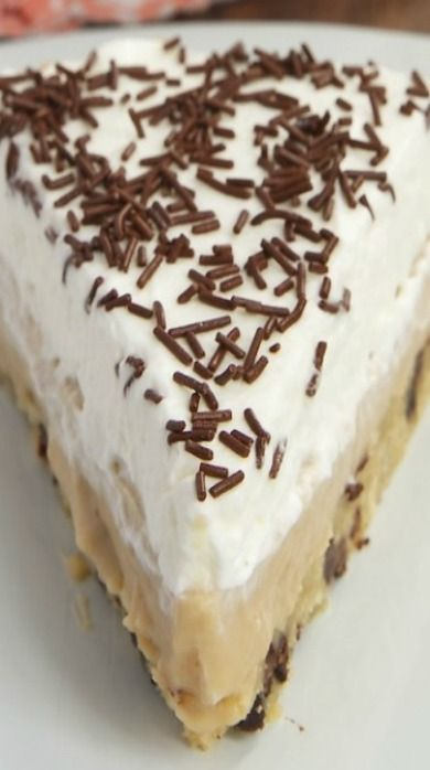 Butterscotch Pudding Pie with Chocolate Chip Cookie Crust   Recipe