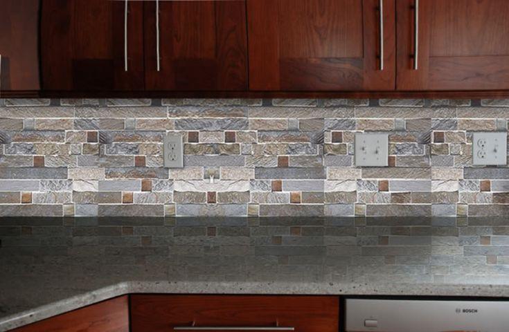 fire and ice brick tile backsplash backsplashes pinterest