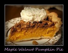 Maple Walnut Pumpkin pie - Recipe Box Creations
