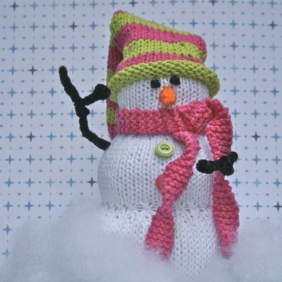 PDF Knitting Pattern- Aiden the Snowman