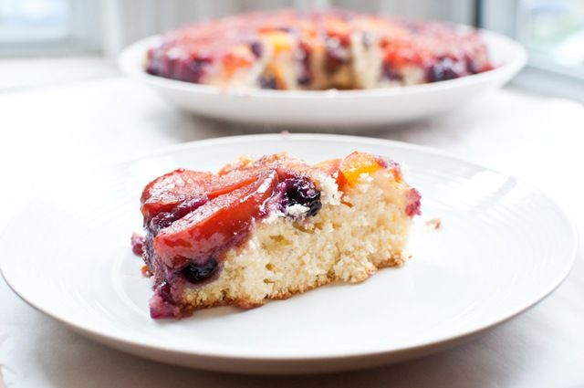 Peach and blueberry coffee cake | Desserts | Pinterest