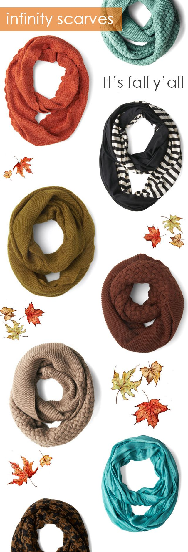 Infinity scarves - fall styles now 20% off. plus enjoy an extra 10% off (even on sale items) with code: C6N0U3MI4XPCJ8U7