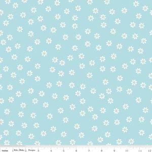 Lori Holt - Polka Dot Stitches - Daisy in Blue