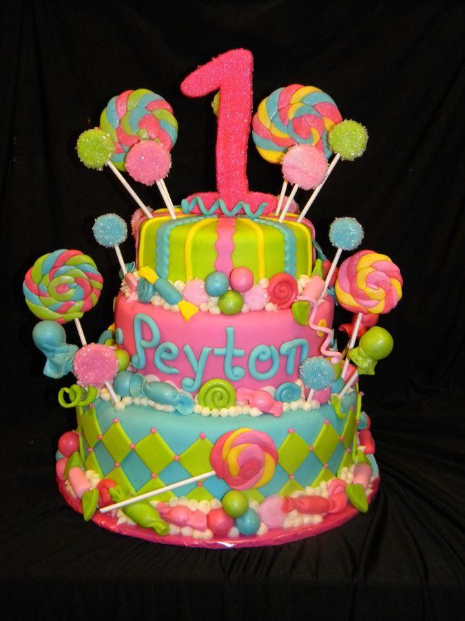 Candy land first birthday cake