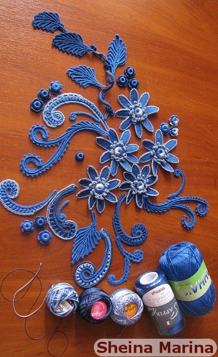 Irish crochet motif