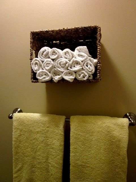 Basket hanging on the bathroom wall crafty stuff for What to hang on bathroom walls