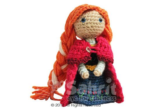 PATTERN Instant Download Anna Frozen Crochet Doll Amigurumi