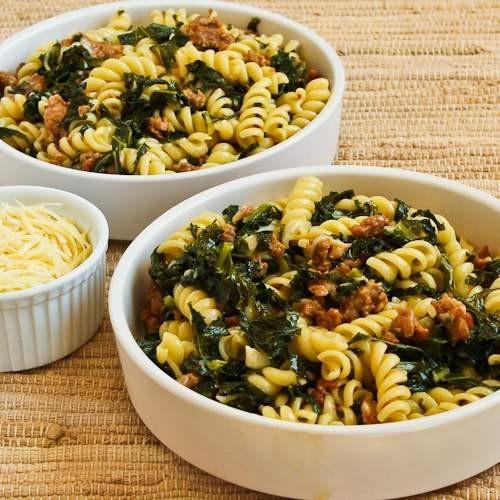 Pasta with Sausage + Kale...yum! | FOOD | Pinterest