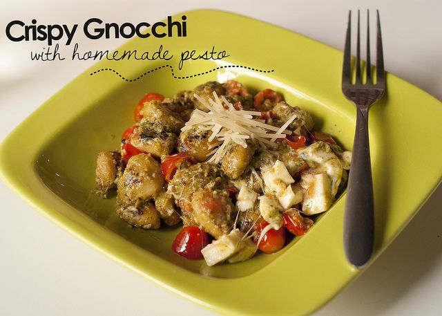 crispy gnocchi with homemade pesto | Recipes | Pinterest