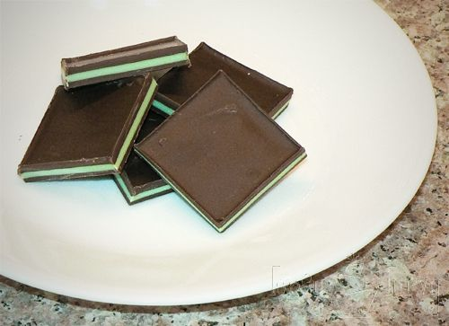 Homemade Andes Candies.