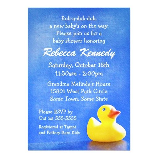 rubber ducky baby shower invitations rubber ducky baby shower