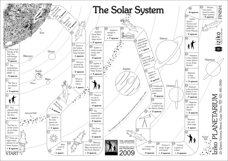 solar system school worksheets  page 2