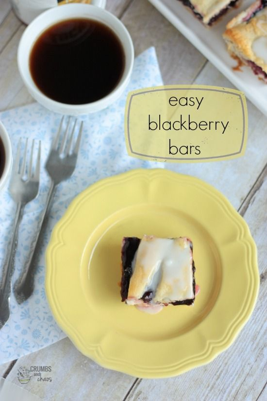 Easy Blackberry Bars | Crumbs and Chaos | Breakfast Dishes & Brunch T ...