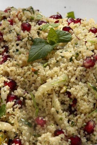 pomegranate mint pistachio couscous | Halloween + Thanksgiving | Pint ...