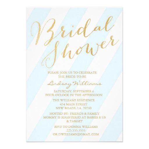 Gold Glitter Bridal Shower Invitations #bridal shower invitations,# ...
