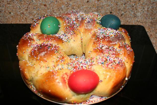Tsoureki - Greek Easter Bread Bread Machine Recipe) Recipe - Food.com ...