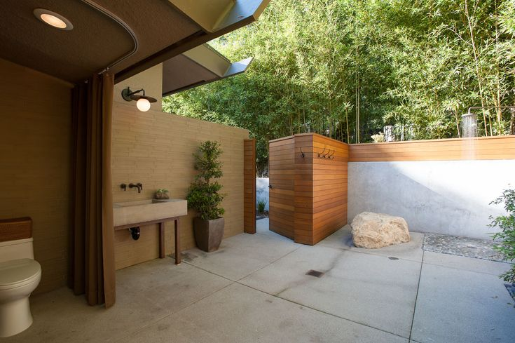 Backyard Enclosures Lombard : Pool side shower  Dream Home  Pinterest