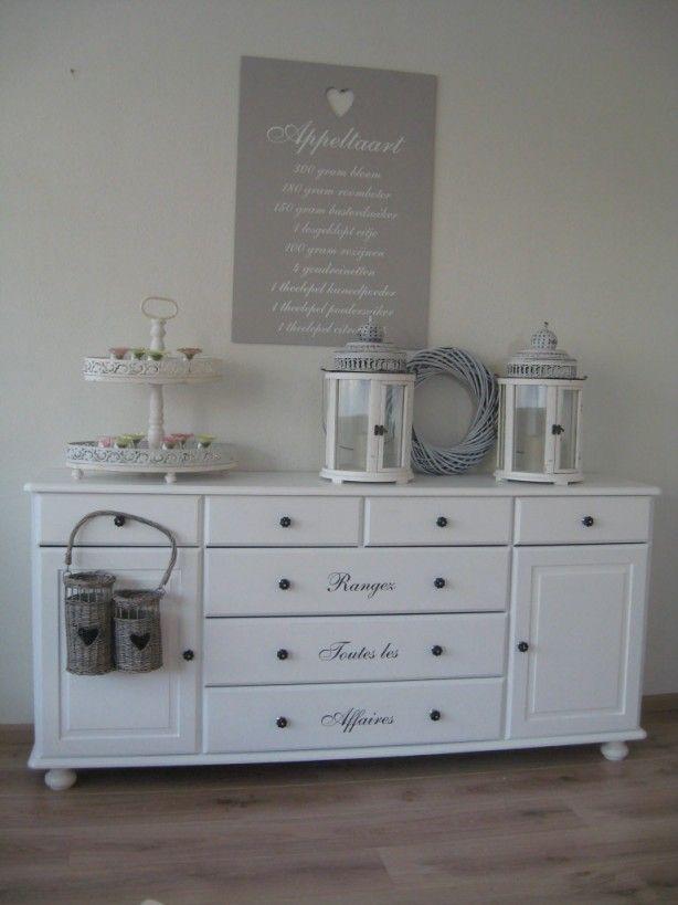 tekst muur boven dressoir : Home : Pinterest