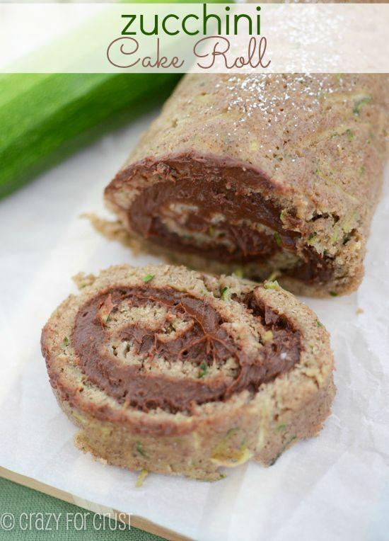 Zucchini Cake Roll with Chocolate Cream Cheese Filling | Recipe