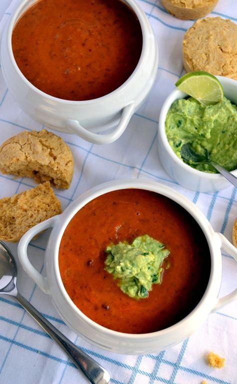 Cold Avocado Soup With Chile-Lime Pepitas Recipe — Dishmaps