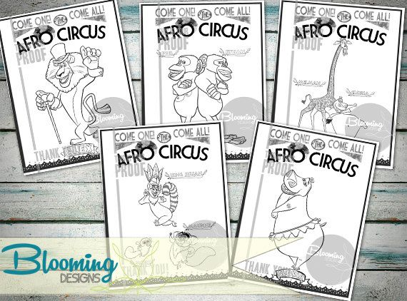madagascar afro circus coloring pages - photo#18