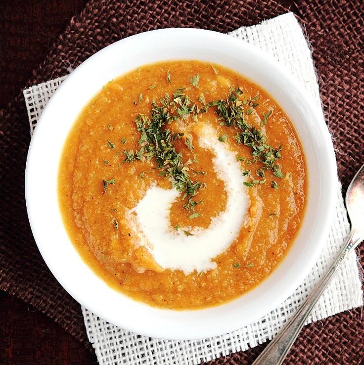 roasted butternut squash amp apple soup